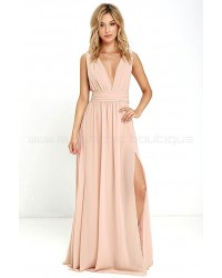 Heavenly Hues Blush Maxi Dress