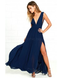 Heavenly Hues Navy Blue Maxi Dress