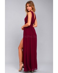 Heavenly Hues Burgundy Maxi Dress