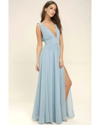 Heavenly Hues Light Blue  Maxi Dress