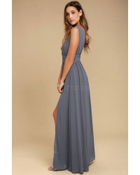 Heavenly Hues Denim Blue Maxi Dress