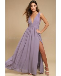 Heavenly Hues Dusty Purple Maxi Dress