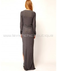 Selected Juliana Long Sleeve Jersey Maxi Dress
