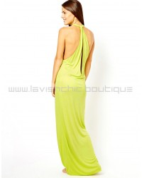 Keyhole Back Maxi Beach Dress