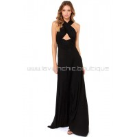 Tricks Of the Trade Black Maxi Dress (Convertible Dress)