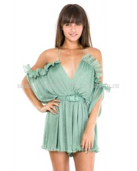 Alice McCall At The First Sight Green Moss Playsuit