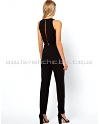 Jumpsuit With Chic Racer Detail