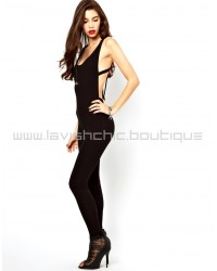 Bodyfit Jumpsuit With Back Detail