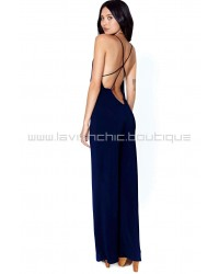 Blue Trouble Maker Jumpsuit