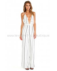 Shutterbabe Ivory Striped Jumpsuit
