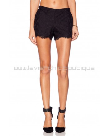 Joie Jalene Lace Short In Black
