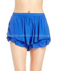 Little Ruffle Short Blue