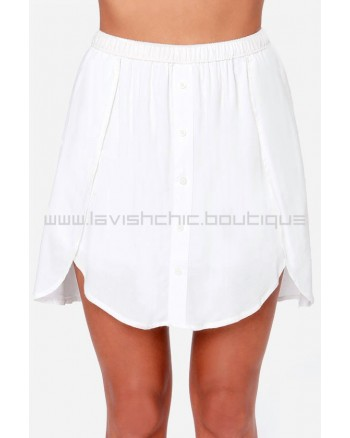 Obey Just Kids Ivory Mini Skirt