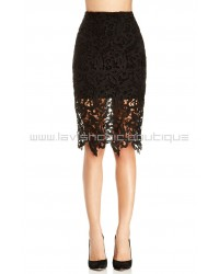 Venetian Black Lace Skirt