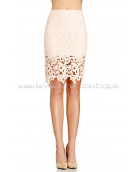 Venetian Pink Lace Skirt
