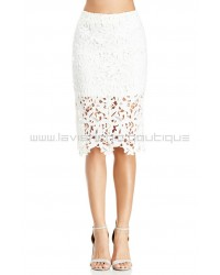 Venetian White Lace Skirt