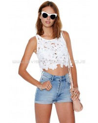 Elisa White Crop Top