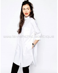 Monki Oversized Shirt Dress