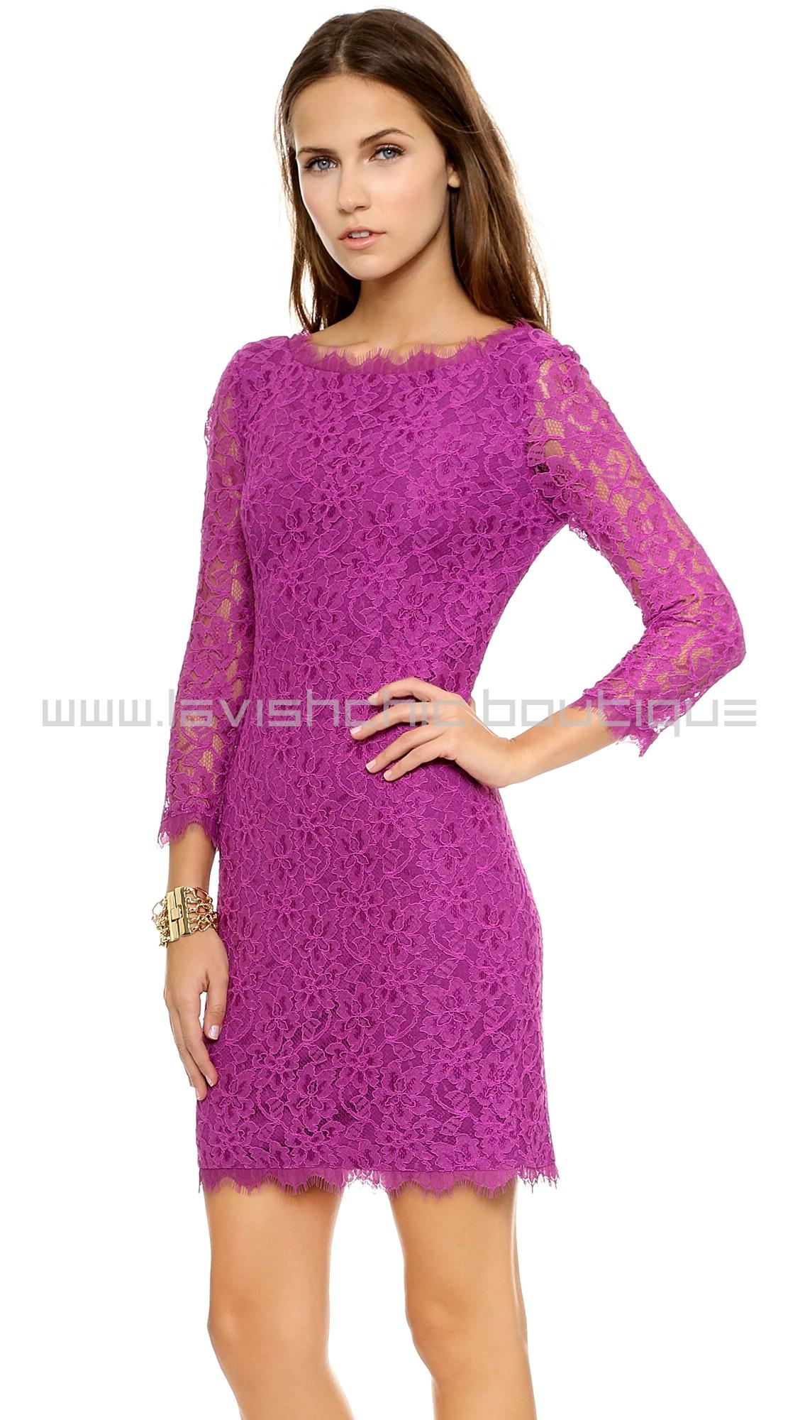 Dvf lace zarita dress with tights