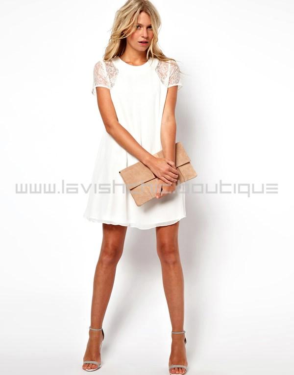 White shift dress cheap