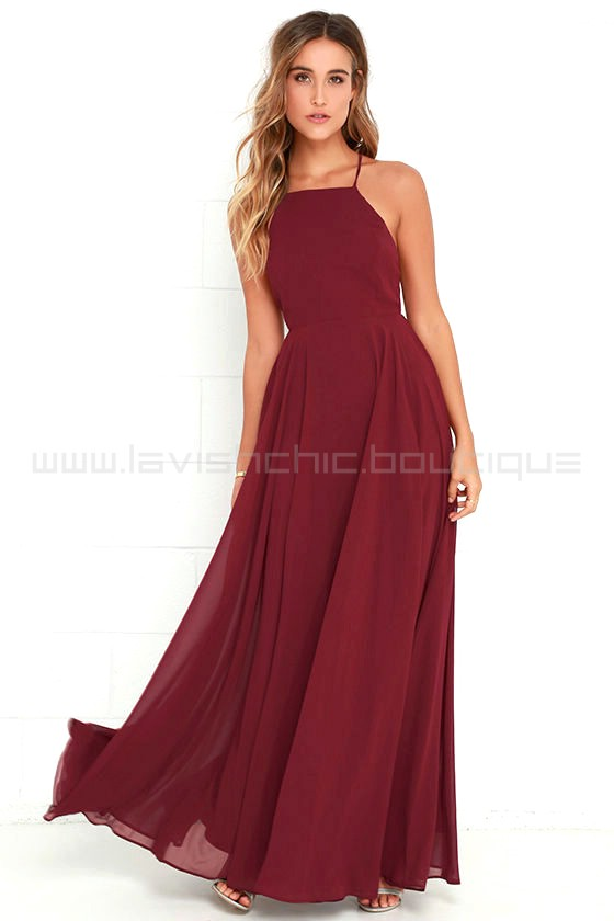 5ec345ec1f485 Mythical Kind Of Love Wine Red Maxi Dress