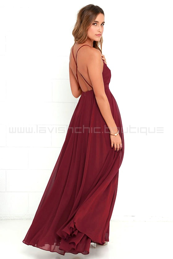 16d08c499c7 Mythical Kind Of Love Wine Red Maxi Dress