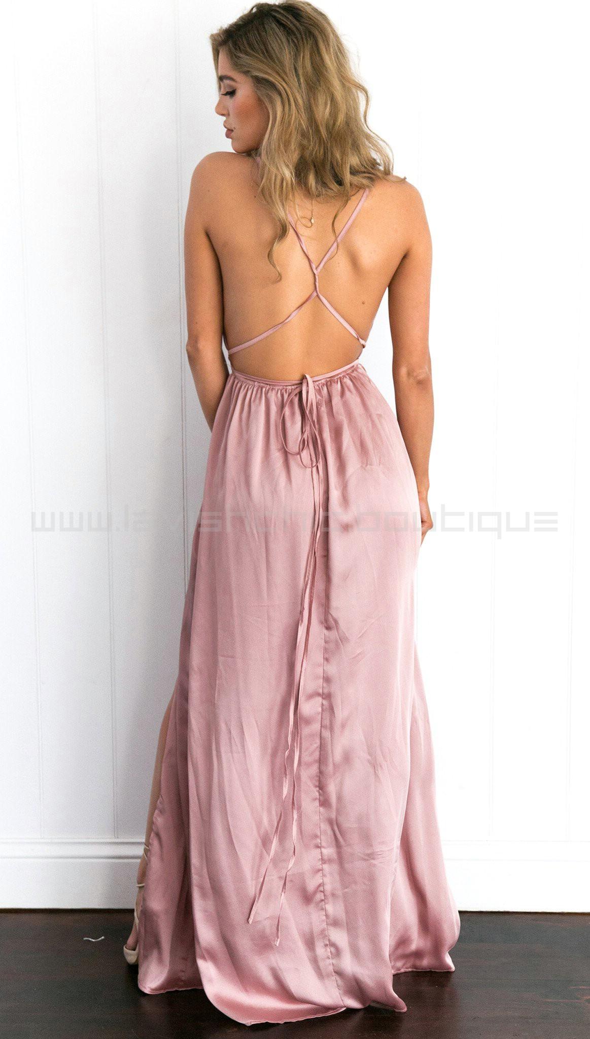 Catwalk Maxi Dress Dusty Pink