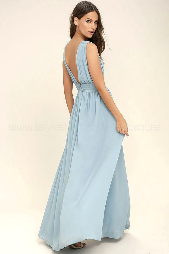 Heavenly Hues Light Blue Maxi Dress