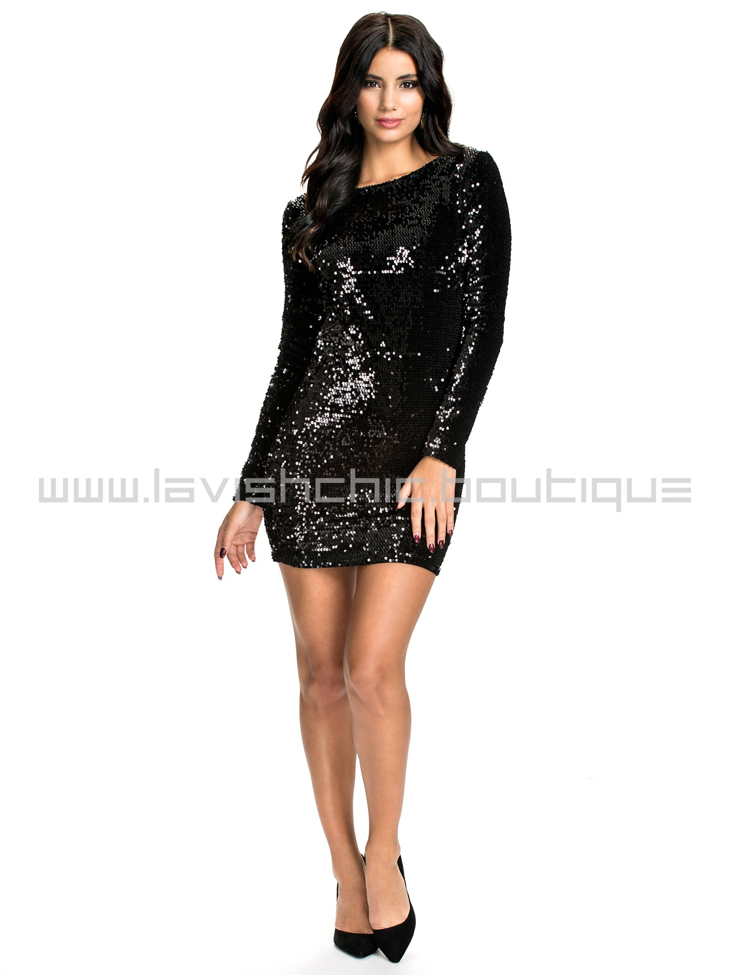 Купить Платье Черное Блестящее