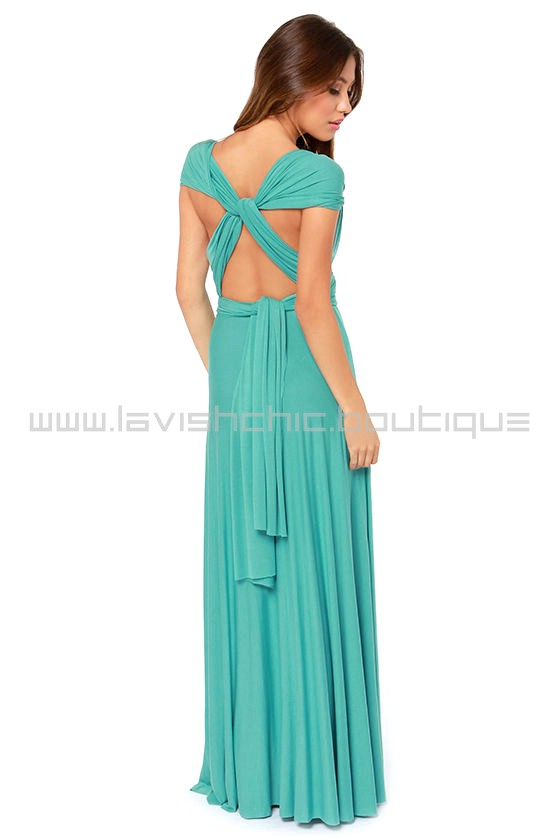 Of the Trade Turquoise Maxi Dress (Convertible Dress)